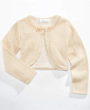 Bonnie Jean Flyaway Metallic Cardigan, Little Girls (4-6X)