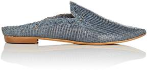 Barneys New York WOMEN'S WOVEN LEATHER MULES