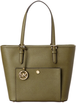 MICHAEL Michael Kors Jet Set Leather Tote - ONE COLOR - STYLE