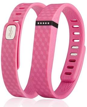 Fitbit Zodaca 3D TPU Wristband Replacement Large Band Bracelet Wireless Activity Tracker Clasp for Flex Pink