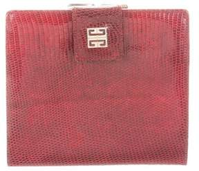 Givenchy Vintage Compact Lizard Wallet