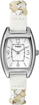 Timex Womens Weekender Square Case Leather Strap Watch