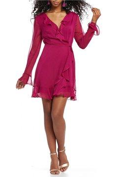 WAYF Maddie Ruffle Mini Wrap Dress