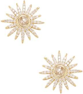 Artisan Women's 18K Gold & 0.77 Total Ct. Diamond Star Stud Earrings