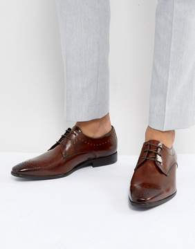 Zign Shoes Leather Brogue Shoes In Brown