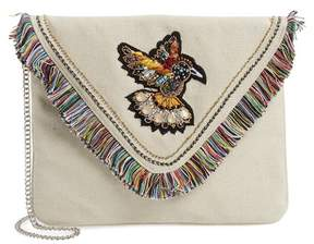 Steve Madden Bird Appliqu? Oversize Envelope Clutch