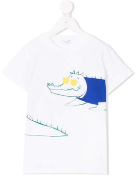 Il Gufo crocodile print T-shirt