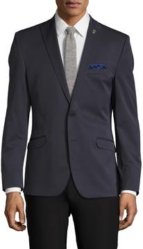 Nick Graham Men's Solid Notch Lapel Sportcoat