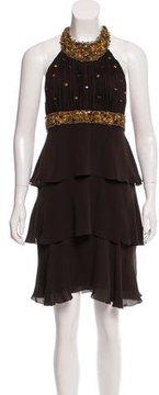 Andrew Gn Embellished Silk Dress