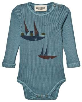 Bobo Choses Blue Ships Print Alma Body
