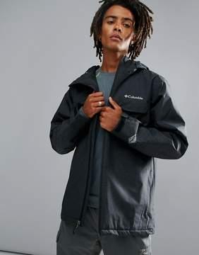 Columbia Huntsville Peak Jacket Insulated Waterproof Hooded In Black