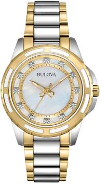 Bulova Women's Diamond Two-Tone Stainless Steel Watch - 98P140