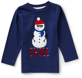 Class Club Adventure Wear by Little Boys 2T-6 Christmas Snowman Chill Tee