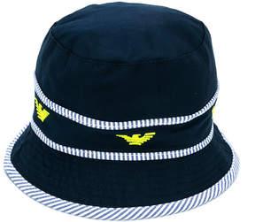 Emporio Armani Kids logo embroidered hat
