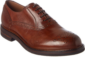 Brunello Cucinelli Brouge Leather Derby Shoe