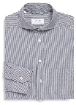 Eton Pinstripe Slim-Fit Cotton Dress Shirt