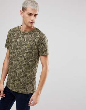 Pretty Green Ryder Paisley T-Shirt In Green