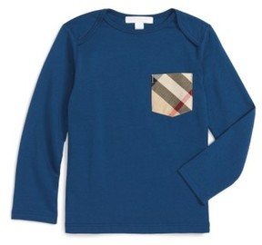 Burberry Toddler Boy's 'Callum' Long Sleeve Check Print Pocket T-Shirt