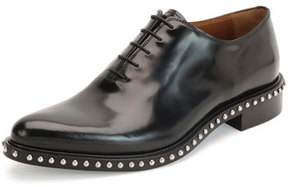 Givenchy Pirro Lace-Up Studded Shoe, Black