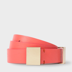 Paul Smith No.9 - Women's Pink Leather Belt