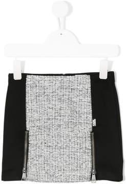 Karl Lagerfeld zipped paneled skirt