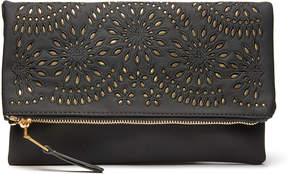 Urban Expressions Foldover Perforated Clutch