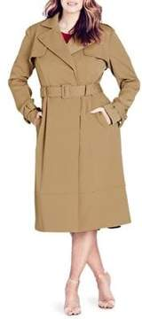 City Chic Plus Classic Trench Coat