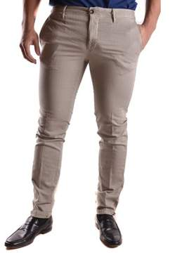 Incotex Men's Grey Cotton Pants.