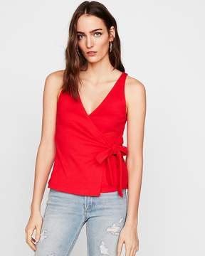 Express One Eleven Ribbed Surplice Tank