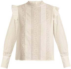 Masscob Stand-collar fil-coupé cotton top