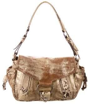 Miu Miu Python-Trimmed Shoulder Bag