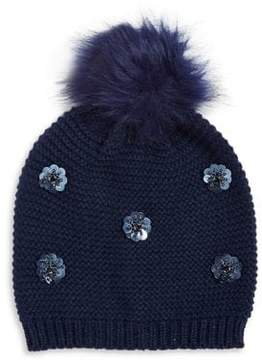 Collection 18 Faux Fur Pom Pom Beanie