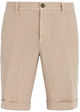Brunello Cucinelli Washed-linen rolled-hem shorts