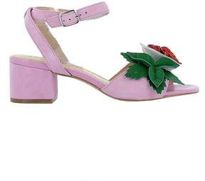 Katy Perry Pink Suede Sandals