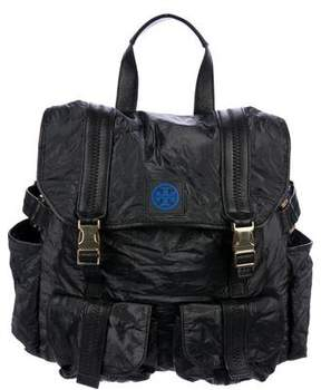 Tory Burch Leather-Trimmed Canvas Backpack