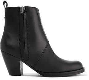 Acne Studios The Pistol Leather Ankle Boots - Black