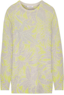 Equipment Rei Intarsia Cashmere Sweater - Chartreuse