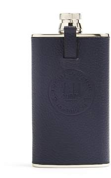 Dunhill Boston leather and stainless-steel pocket flask