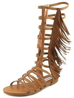 Steve Madden Kalsi Youth Open Toe Synthetic Brown Gladiator Sandal.
