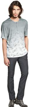 John Varvatos Linen Jersey Henley T-Shirt