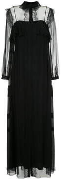 Alberta Ferretti dress with sheer and lace panels