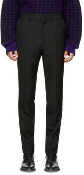 Haider Ackermann Black Wool Slim Trousers