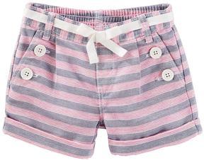Osh Kosh Toddler Girl Striped Sailor Shorts