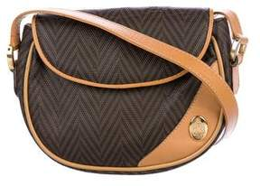 Mark Cross Leather-Trimmed Flap Crossbody Bag
