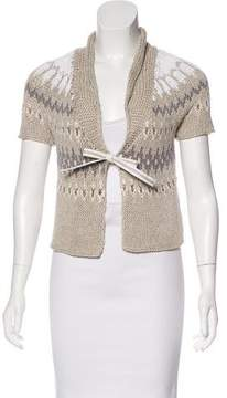 Brunello Cucinelli Linen-Blend Knit Cardigan