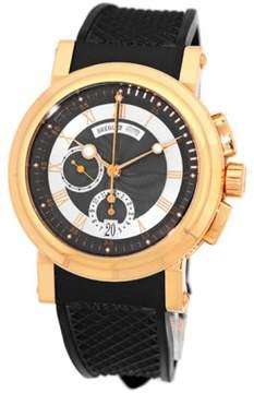 Breguet Marine Chronograph 18K Rose Gold Strap Mens Watch