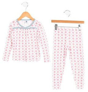 Petit Bateau Girls' Two-Piece Pajama Set