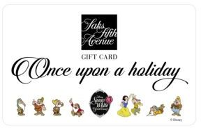 Saks Fifth Avenue Disney Holiday Gift Card