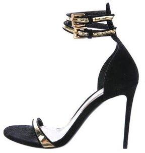 Barbara Bui Suede Peep-Toe Sandals