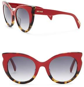 Just Cavalli Cat Eye 53mm Plastic Sunglasses
